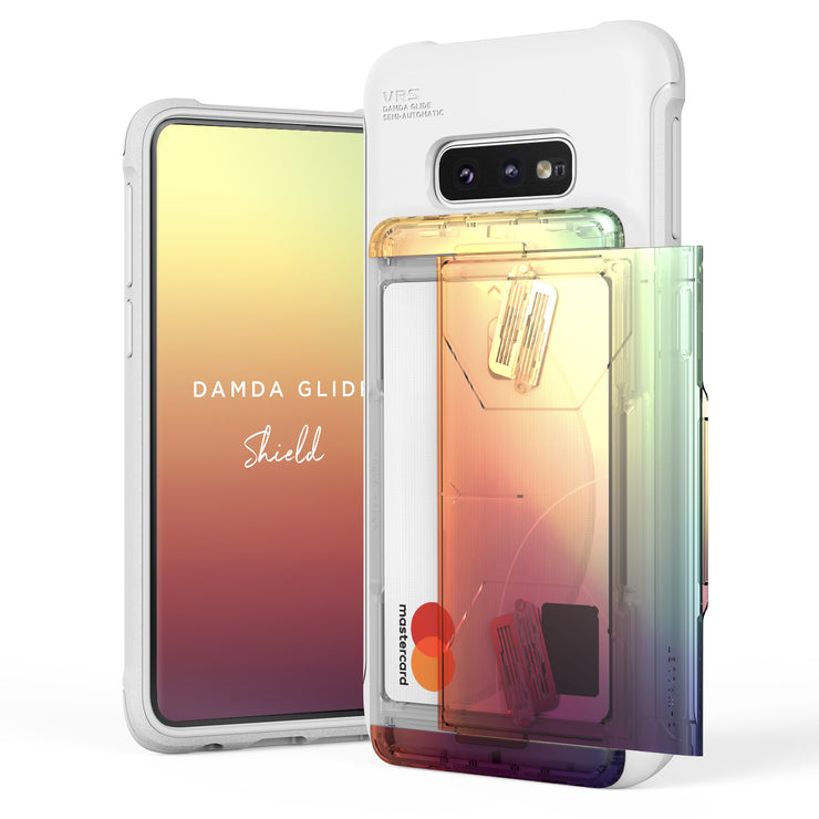 VRS Design | Galaxy S10e Case Damda Shield White Series - Orange Purple