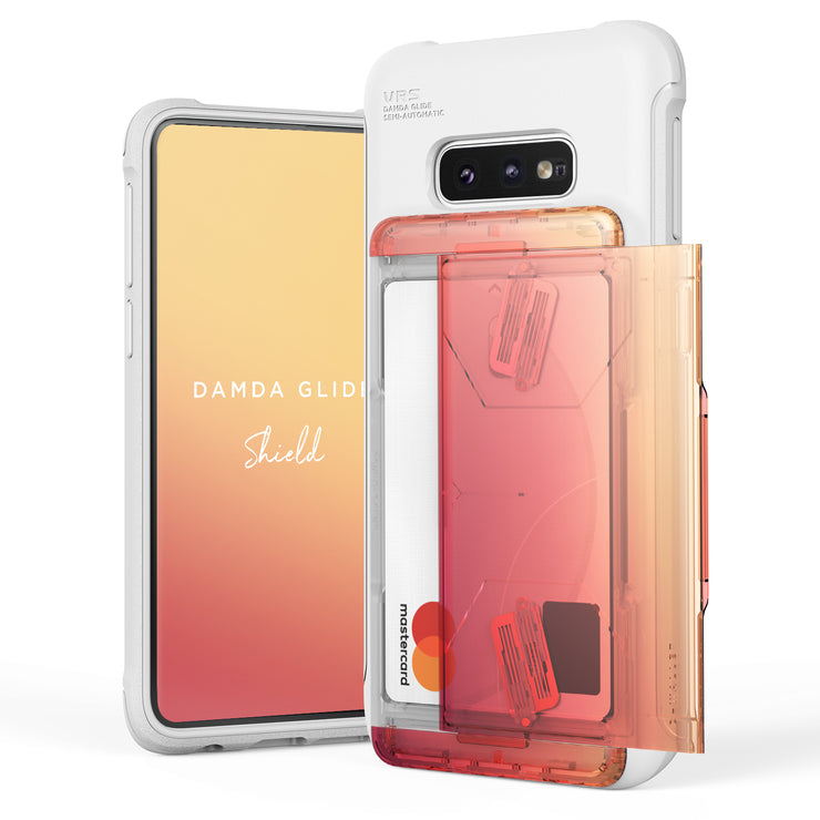 VRS Design | Galaxy S10e Case Damda Shield White Series - Yellow Peach