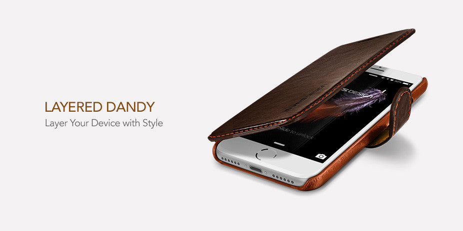 VRS Design iPhone 7 Case Layered Dandy Coffee Brown