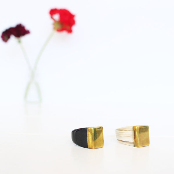 Rose-and-Fitzgerald-Ankole-Horn-Pure-Brass-Ring
