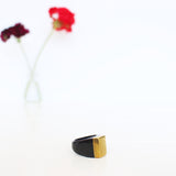 Rose-and-Fitzgerald-Ankole-Horn-Pure-Brass-Ring-Dark