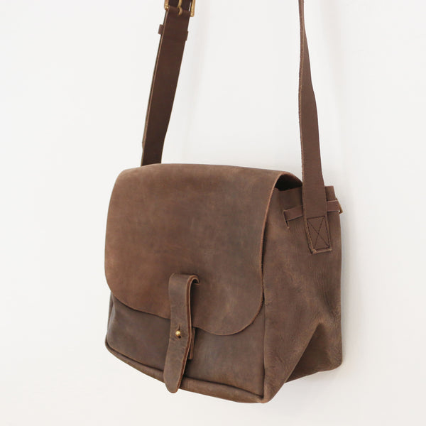Nubuck Bucket Purse - Dark Brown
