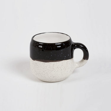 Choco Mug - Black and Ecru