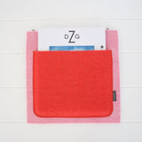Muskhane-Wall-Hanging-Single-Pocket-Tender-Pink-Fluorange
