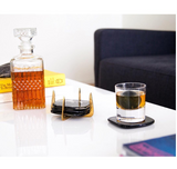 Pure Brass and Ankole Horn Coaster Set