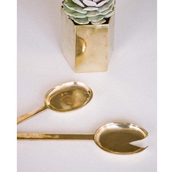 Pure Brass Serving Spoon Set