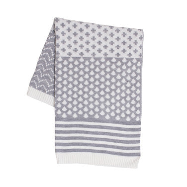 Baby Blanket - Grey and White