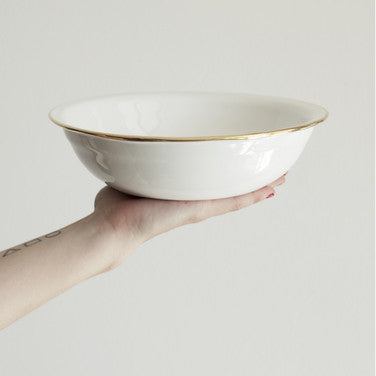 Torno Gold Rim Bowl - Medium