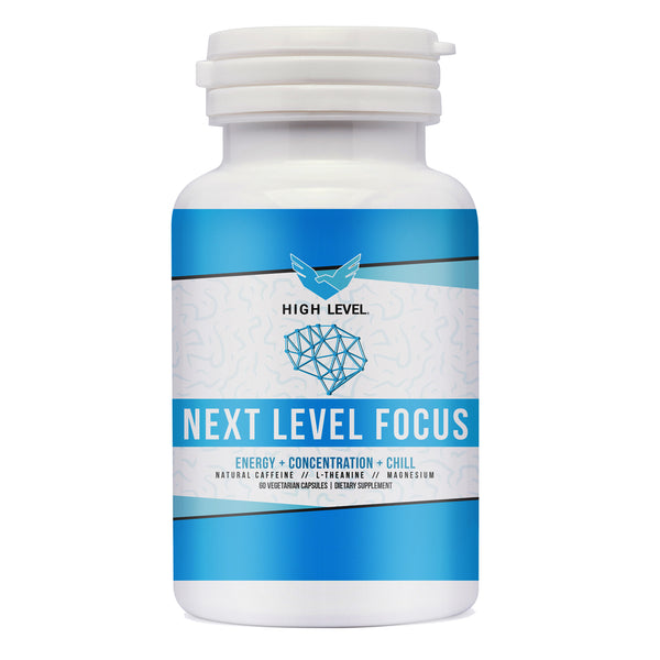 HIGH LEVEL - NEXT LEVEL FOCUS [NATURAL CAFFEINE + L-THEANINE)