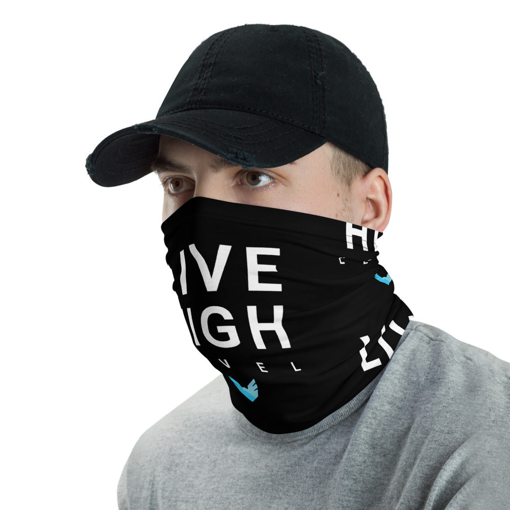 Live High Level Face Covering {Black}