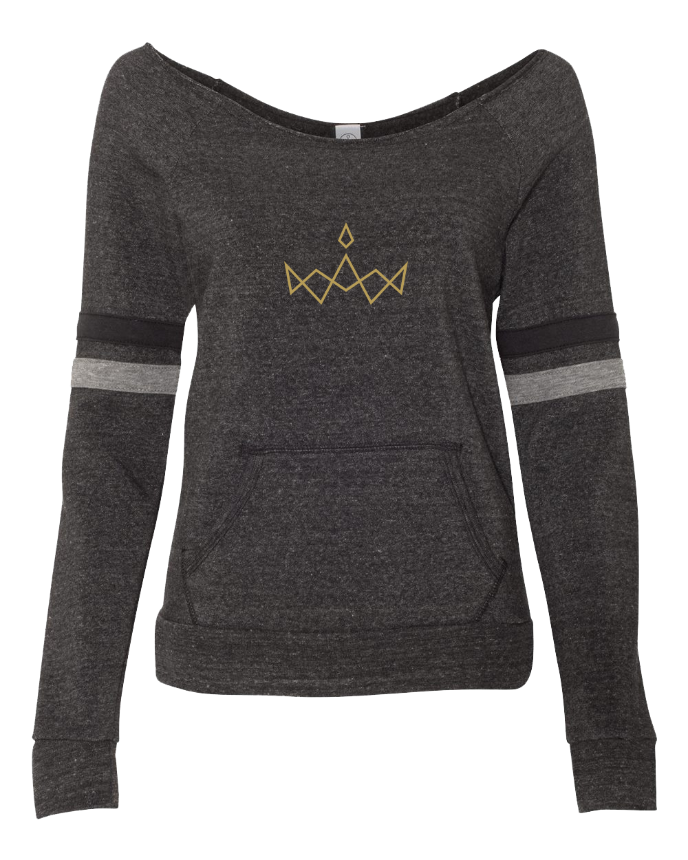 Eco Black Striped Logo Sweatshirt