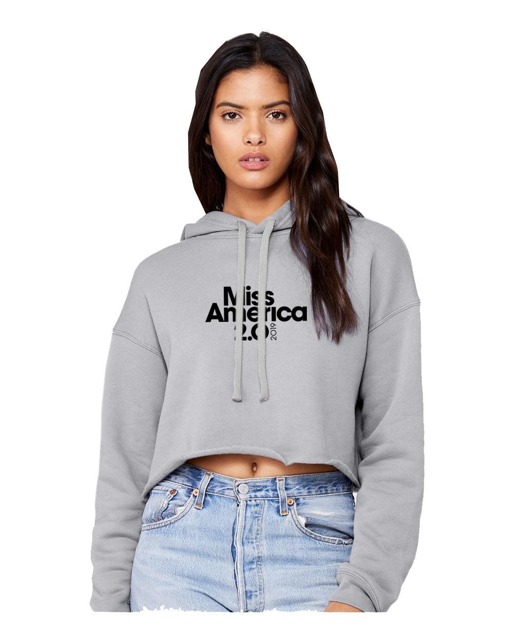 Women's Crop Fleece Hoodie
