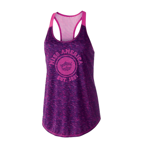 Circle Crown Performance Tank - Pink/Purple