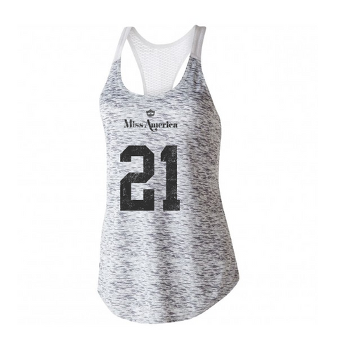 1921 Performance Tank - Silver/White