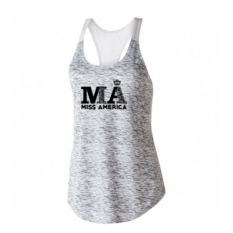 Fancy MA Performance Tank - Silver/White