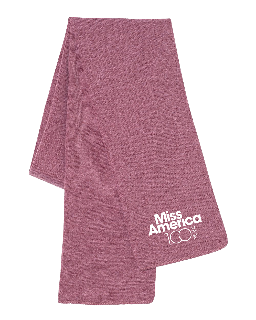 MA 100th Knit Scarf - Heather Cardinal