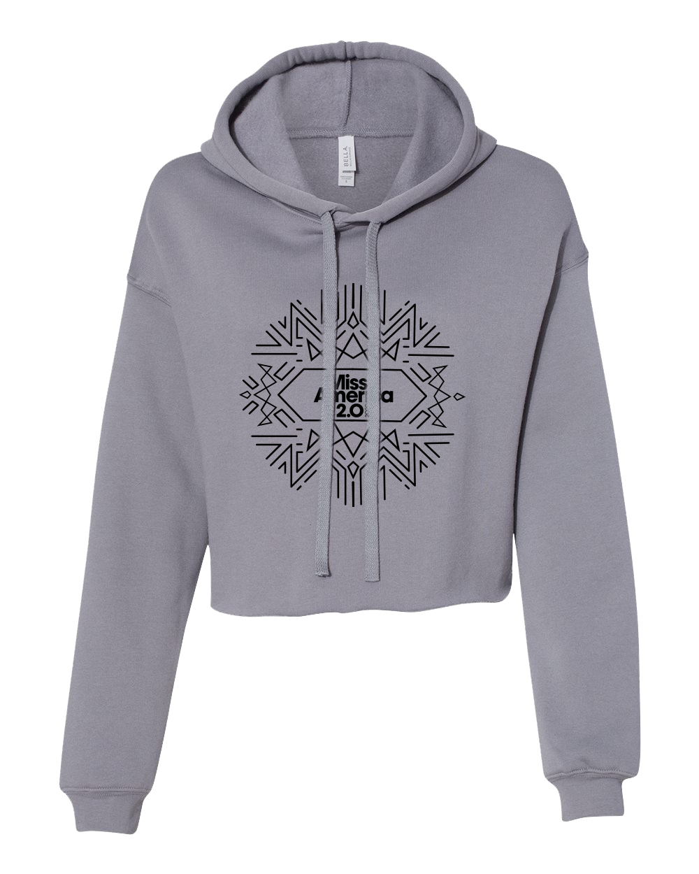 Art Deco Storm Cropped Fleece Hoodie