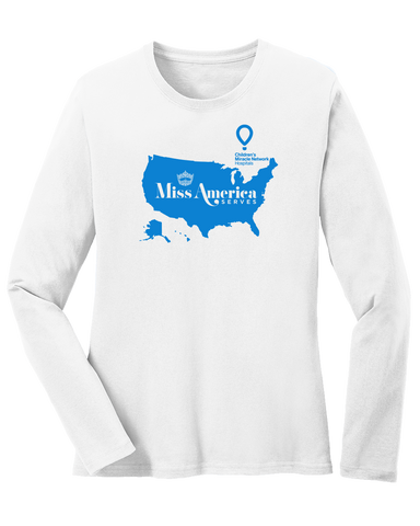 Miss America Serves 2018 Ladies Long Sleeve