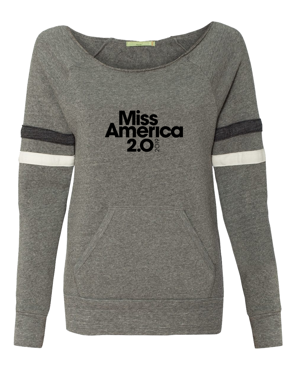 Eco Grey Striped Logo Sweatshirt