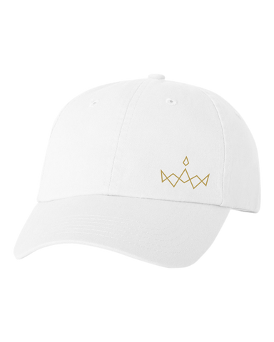 Side Crown White Cap