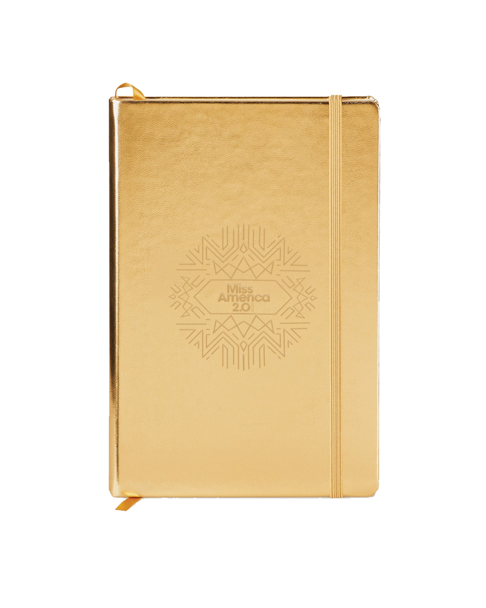 Art Deco Metallic Gold Hard Cover Journal