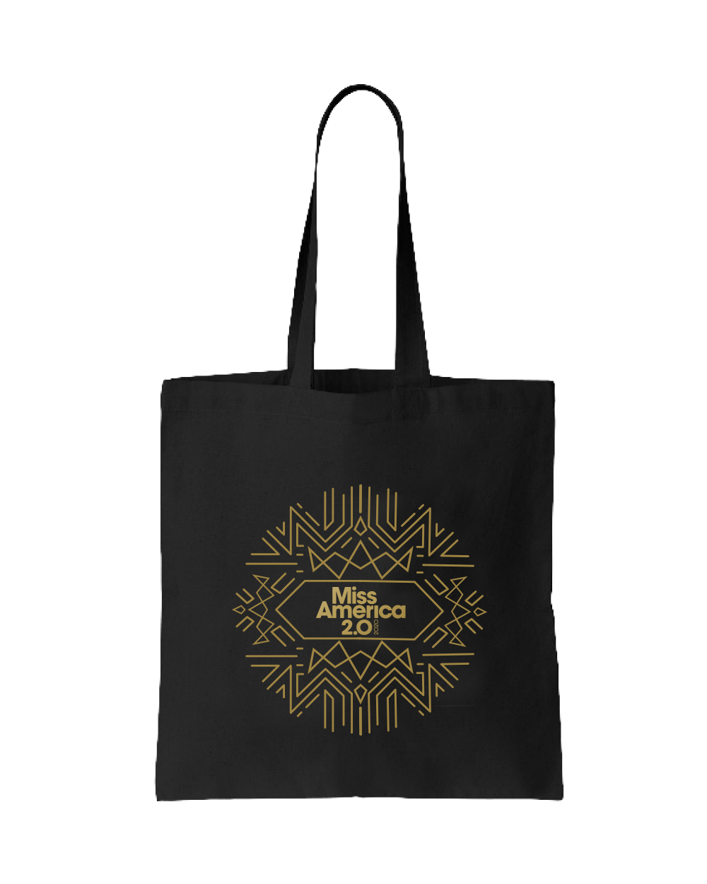 Art Deco Tote Black