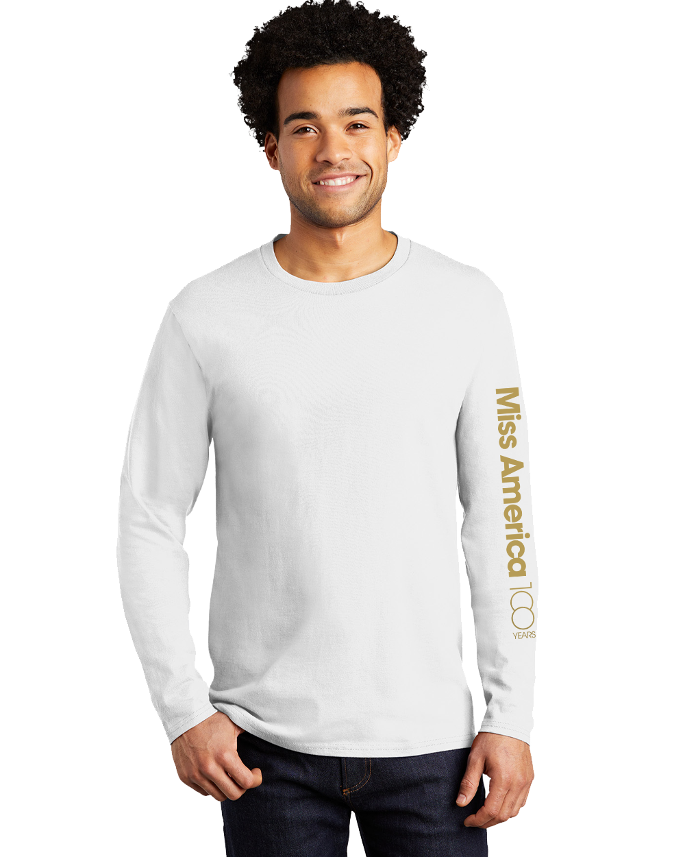 MA 100th Long Sleeve Tee - White