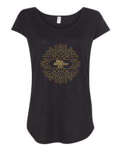 Art Deco Black Modal Tee