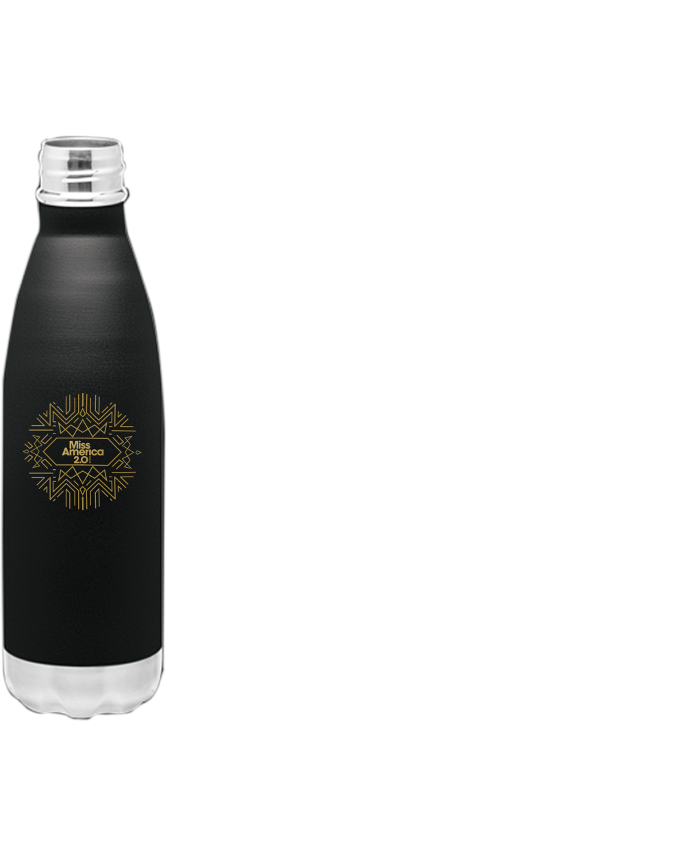 Art Deco Water Bottle Black