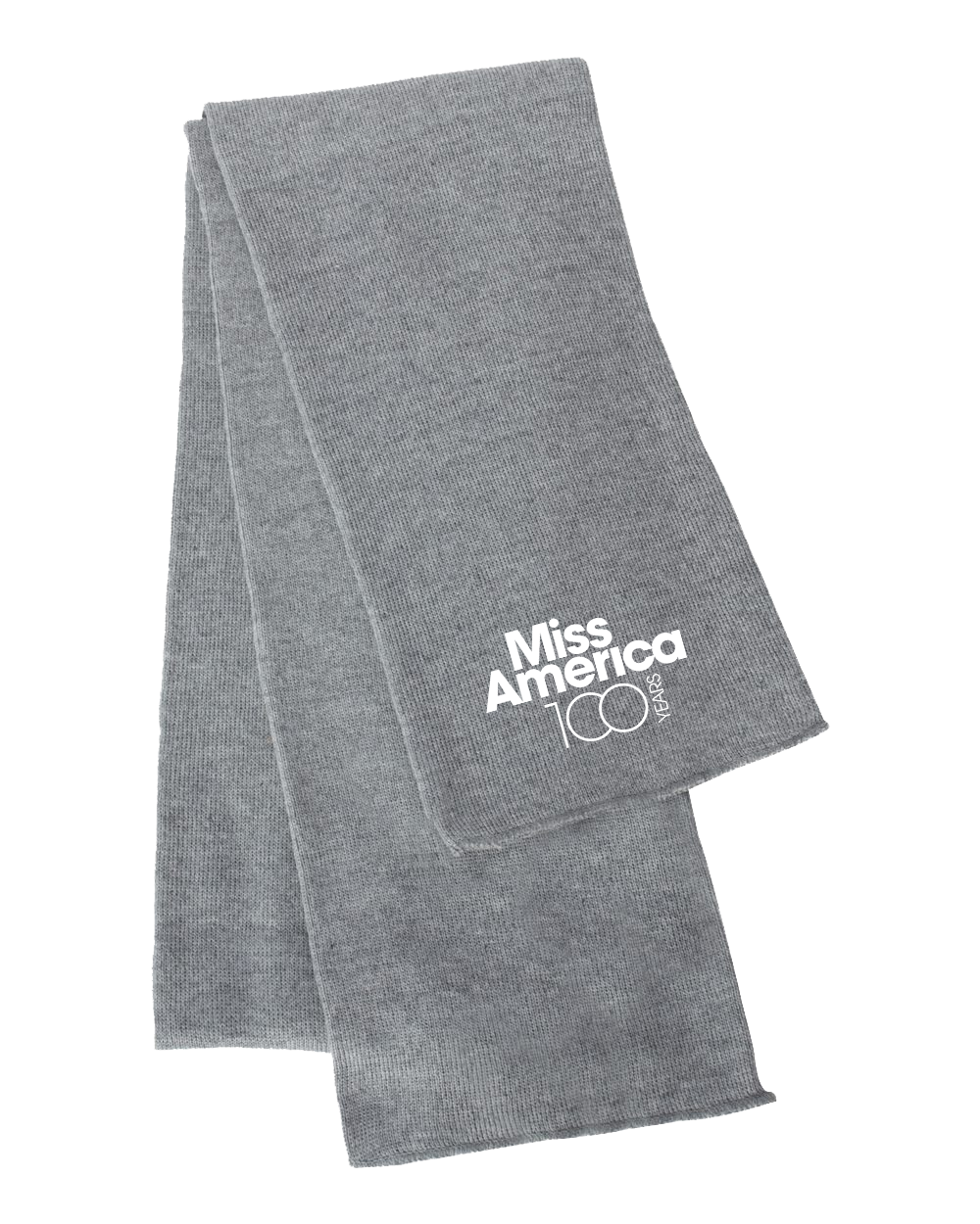 MA 100th Knit Scarf - Heather Grey