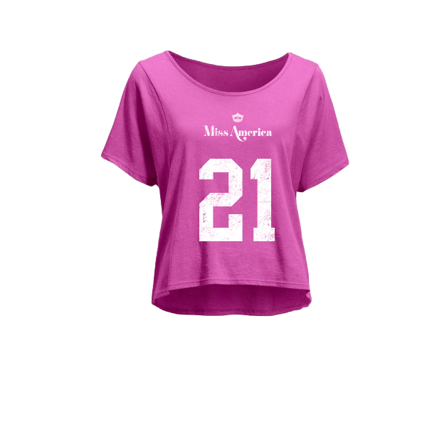 1921 Cropped Tee - Pink