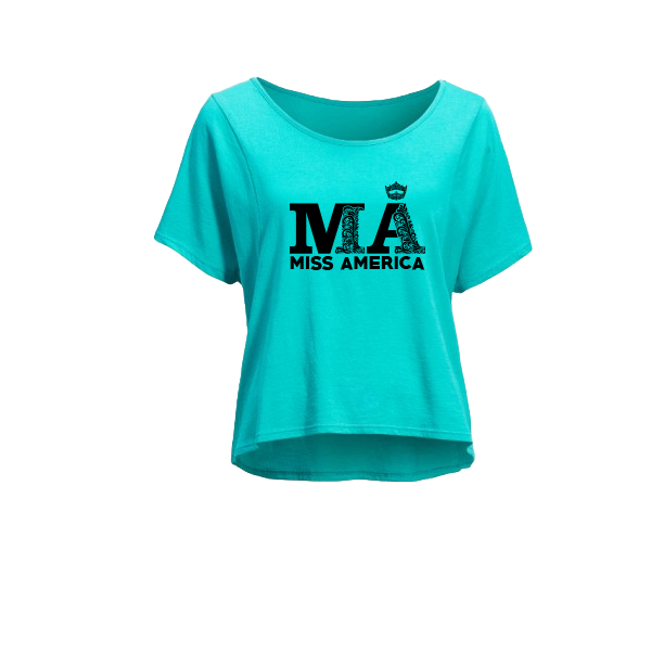 Fancy MA Cropped Tee - Teal
