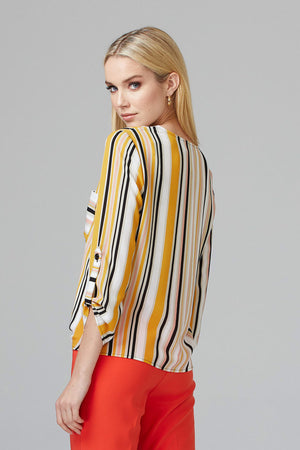 Joseph Ribkoff Multi-Striped Blouse