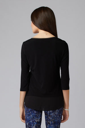 Joseph Ribkoff Black Long Sleeve Top