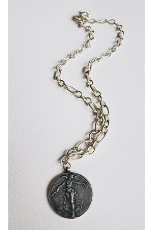 Goddess Medallion Necklace - Sterling