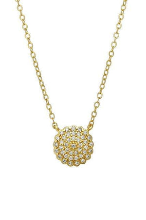 Freida Rothman Simple Pave Disc Necklace