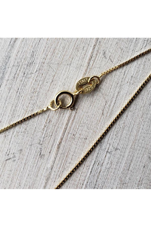 A Rider's Prayer Equestrian  Necklace -  Gold/Silver on Gold Chain