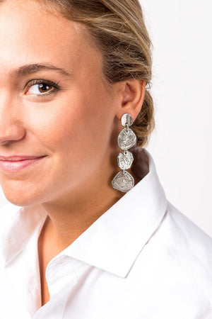 CXC E0005MET Silver Drop Earrings-Jewelry-CXC-Madison San Diego