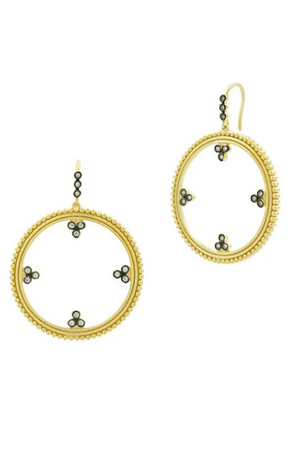 Freida Rothman Imperial Hoop Earrings