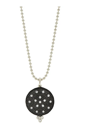 Freida Rothman Pave Disc Necklace