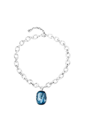 "UNO de 50 ""Light It Up"" Blue Crystal Necklace"