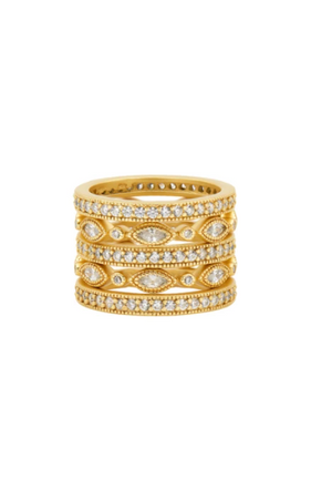 Freida Rothman Classic Marquise Eternity 5 Stack Ring