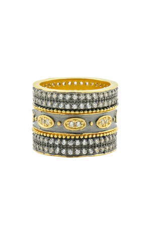 Frieda Rothman Signature Eternity 3 Stack Ring Set