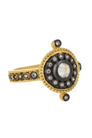 Freida Rothman Nautical Button Ring