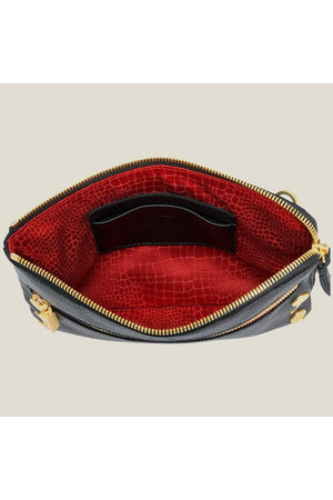Hammitt Nash 2 Black/Brushed Gold Red Zipper Handbag-Handbag-Hammitt-Fairen Del