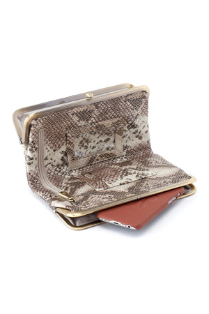 Hobo Lauren Wallet Clutch Platinum Shimmer