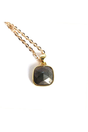 Tan Mini Pyrite Gold Filled Link Chain Layered Necklace