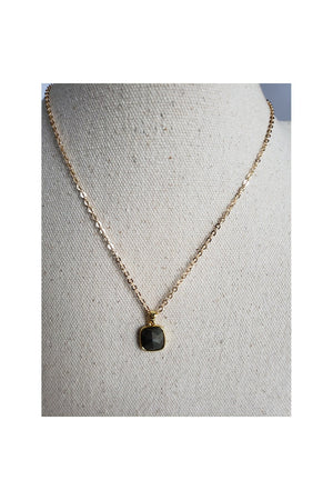 Gray Mini Pyrite Gold Filled Link Chain Layered Necklace