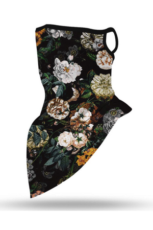 Vintage Floral Face Mask + Gaiter Scarf With Filters (PREORDER)-Health & Wellness-Three Wild Horses-Madison San Diego