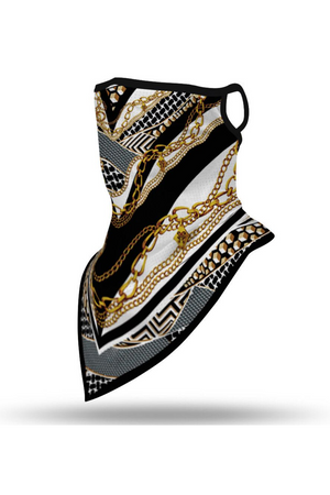 Hermes Style Face Mask + Gaiter Scarf With Filters (PREORDER)-Health & Wellness-Three Wild Horses-Madison San Diego